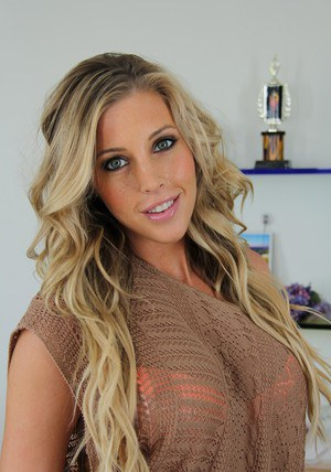Adorable busty babe Samantha Saint stripping off her clothes