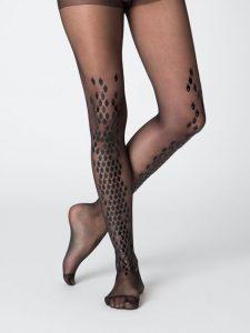Dasha in hot black spider stockings