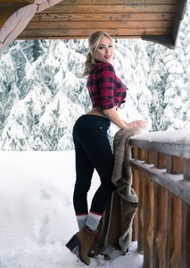 Stunning stacked blonde babe Khloe Terae gets horny and naked in the cabin