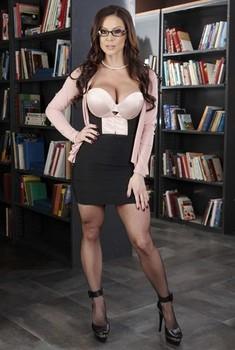 Brunette bubble butt milf librarian Kendra Lust is ready for a hardcore fuck
