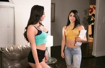 Hot stars Karlee Grey & Gina Valentina strip to enjoy ass licking lesbian sex