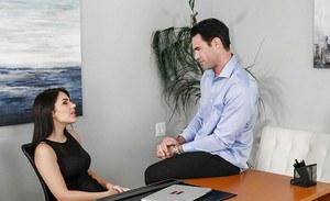 Top office hardcore along big boobs brunete Valentina Nappi