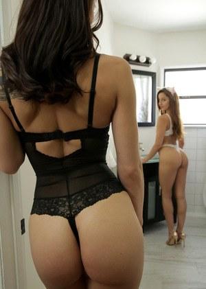 Sexy chicks Aidra Fox & Vanna Bardot don cosplay attire for a threesome fuck