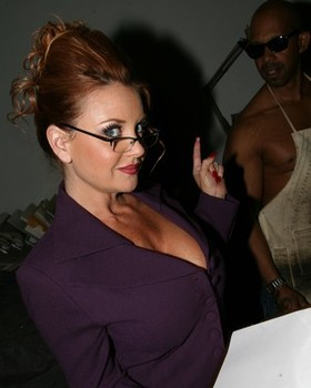 Curvy mature MILF secretary Janet Mason sucks BBC & gets boned at work