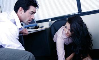 Euro secretary Roxy Jezel fucking co-worker on desk in office