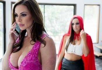 Busty Abigail Mac & Kendra Lust playing kinky lesbian games & pussy licking