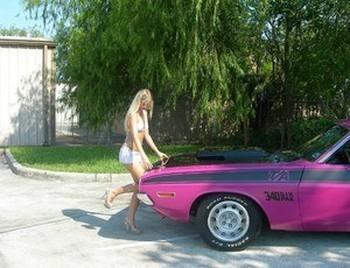 Blonde teen Jana Jordan models by herself in a few bikini combos