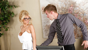 Ass fucking action in office from a blonde reality babe Kayla Kayden