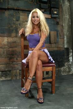 Hogtied Stacy Burke