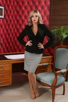 Sultry Dominika flaunts her tiny tits after getting rid of her office outfit