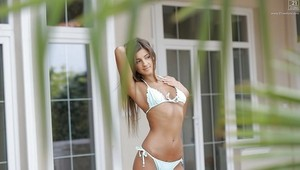 Beautiful babe Maria Rya striking sexy solo girl poses in bikini