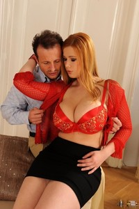 Busty pornstar Terry Nova gets her holes filled with two hard knobs