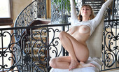 Beautiful girl Angel bares her great body before showing the soles of her feet