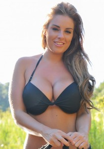 First timer Gracie Finlan uncorks her firm breasts in a calm river