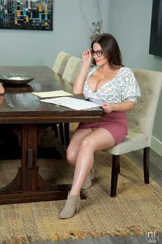 Teacher Natasha Nice gets her big boobs fucked and jizzed by her student
