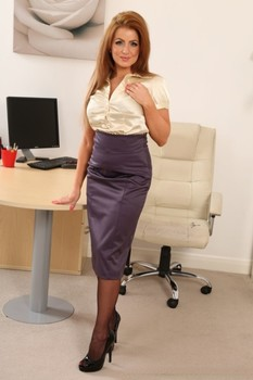 British secretary Chloe Welsh undressing and teasing in hot lingerie at work